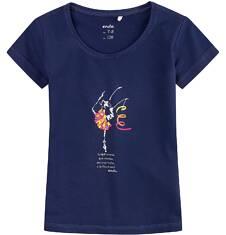 Bluzka z krótkim rękawem dla dziewczynki 9-13 lat D71G597_1