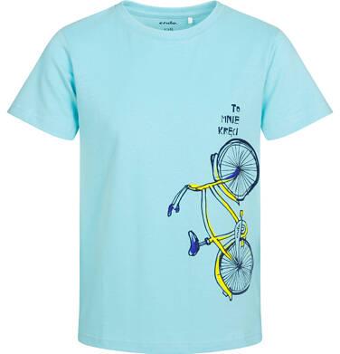 T-shirt z krótkim rękawem dla chłopca, z rowerem, niebieski, 2-8 lat C05G180_1
