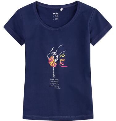 Endo - Bluzka z krótkim rękawem dla dziewczynki 4-8 lat D71G097_1