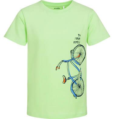 Endo - T-shirt z krótkim rękawem dla chłopca, z rowerem, zielony, 2-8 lat C05G180_2 23