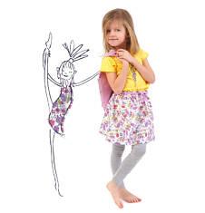 Spódniczka marszczona w talii dla dziewczynki 4-8 lat D71J027_1