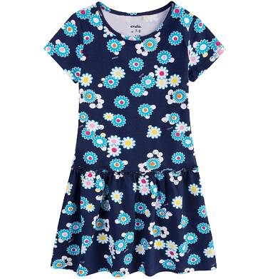 Endo - Sukienka z falbaną dla dziewczynki 4-8 lat D71H072_1