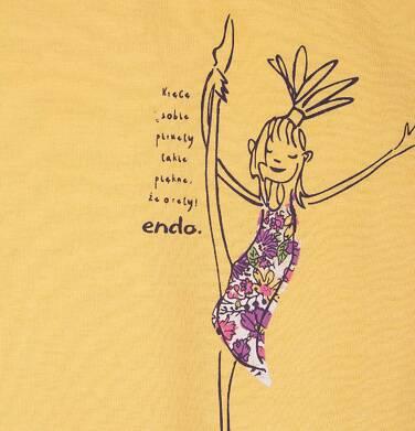 Endo - Bluzka z krótkim rękawem dla dziewczynki 4-8 lat D71G092_1