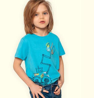 Endo - T-shirt z krótkim rękawem dla chłopca, z koparką, niebieski, 2-8 lat C05G188_2 33