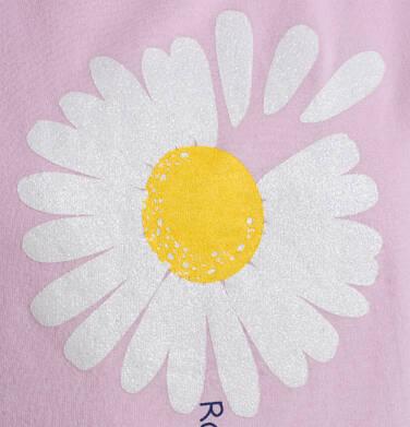 Endo - T-shirt z krótkim rękawem dla dziewczynki, ze stokrotką, różowy, 9-13 lat D05G011_2,2