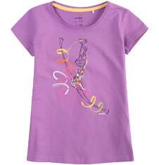 Bluzka z krótkim rękawem dla dziewczynki 9-13 lat D71G588_1