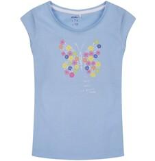 Bluzka z krótkim rękawem dla dziewczynki 9-13 lat D71G632_1