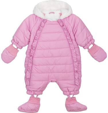 Endo - Kombinezon zimowy dla małego dziecka, różowy, z rękawiczkami i bucikami N82A010_1