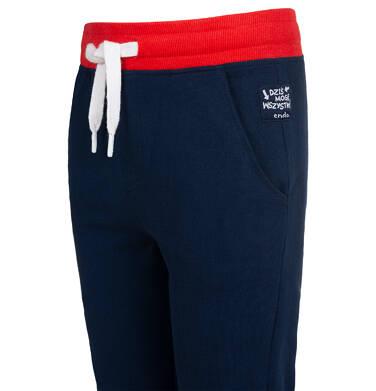 Endo - Spodnie dresowe dla chłopca, granatowe, 2-8 lat C05K021_3 17
