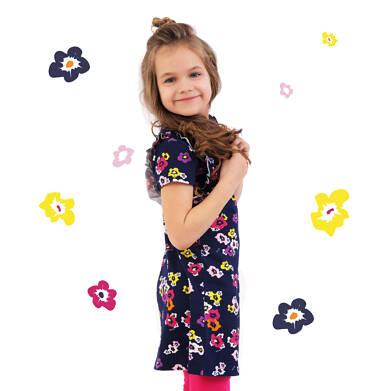 Endo - Sukienka z falbankami dla dziewczynki 4-8 lat D71H071_1