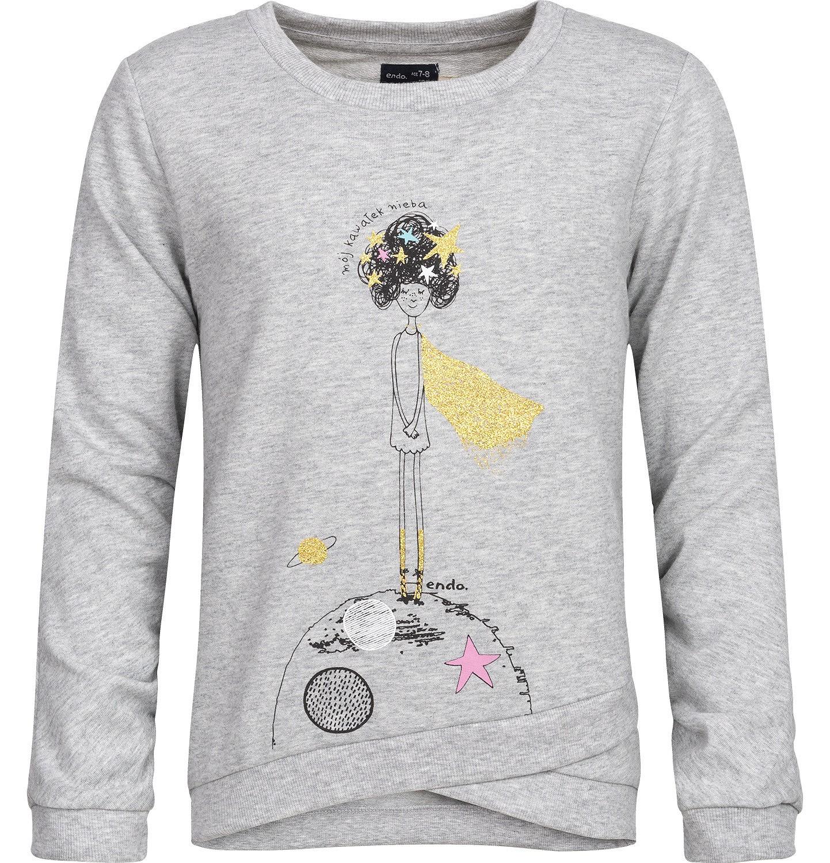 Endo - Bluza dresowa dla dziewczynki 3-8 lat D82C020_1