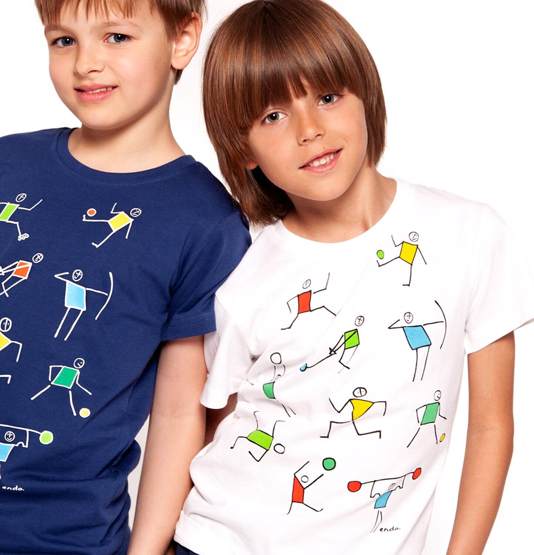 Endo - T-shirt z krótkim rękawem dla chłopca 3-8 lat C91G076_2