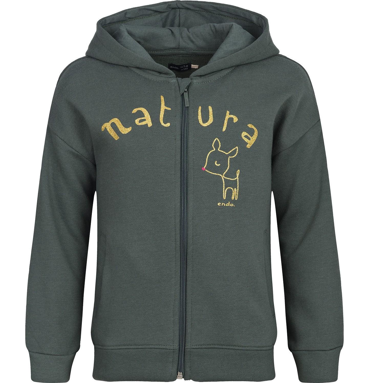 """Endo - """"Natura"""" Bluza z kapturem rozpinana dla dziewczynki 3-8 lat D82C030_1"""