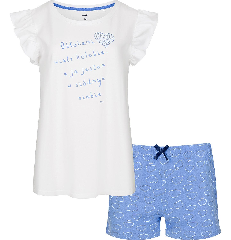 Endo - Piżama z krótkim rękawem dla dziewczynki 9-13 lat D91V507_1