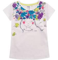 Bluzka z krótkim rękawem dla dziewczynki 9-13 lat D71G578_1