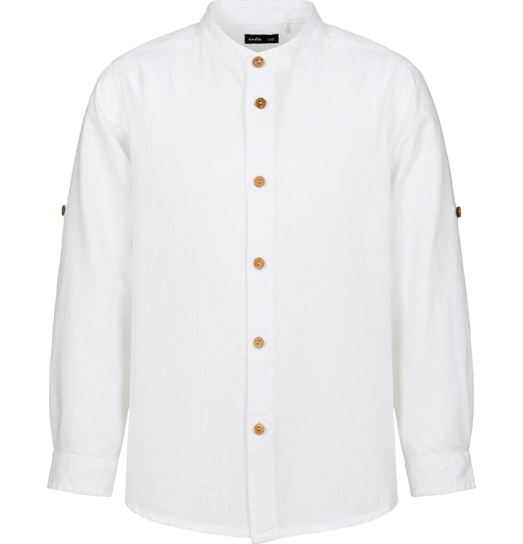 Endo - Koszula dla chłopca, z tygrysem, biała, 9-13 lat C03F512_1