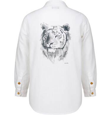 Endo - Koszula dla chłopca, z tygrysem, biała, 9-13 lat C03F512_1,3