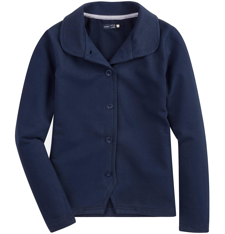 Endo - Rozpinana bluza z kołnierzykiem dla dziewczynki D61C007_3