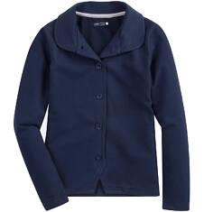 Rozpinana bluza z kołnierzykiem dla dziewczynki D61C007_3