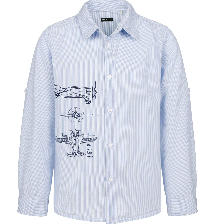 Endo - Koszula dla chłopca, z samolotem, niebieska, 9-13 lat C03F513_1