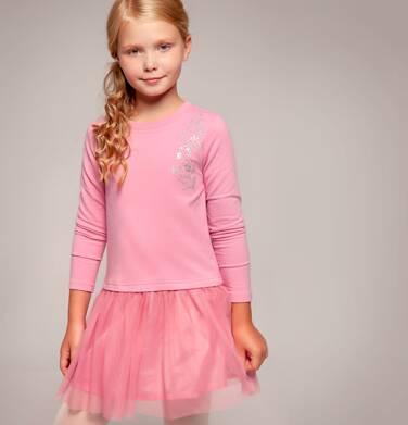 Endo - Sukienka z długim rękawem dla dziewczynki 3-8 lat D82H045_1,2