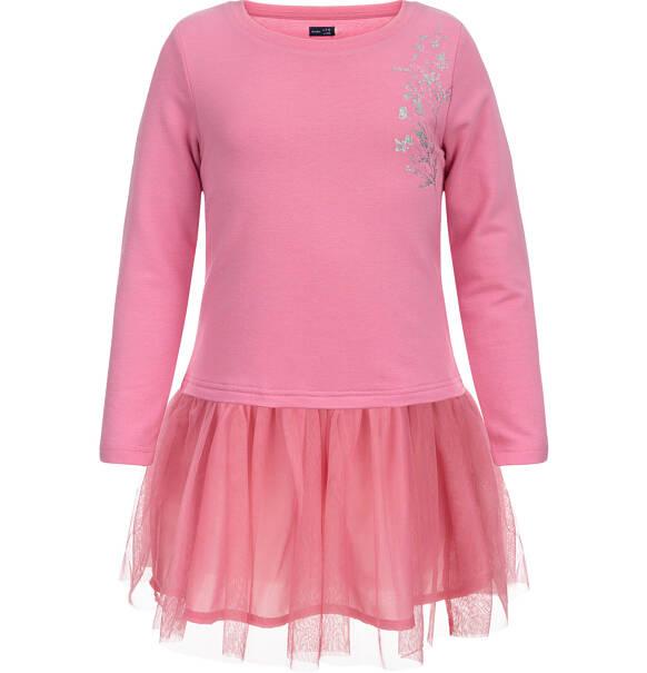 0dbf761eed Endo - Sukienka z długim rękawem dla dziewczynki 3-8 lat D82H045 1
