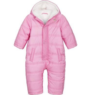 Endo - Kombinezon zimowy dla małego dziecka, różowy, z futrzanymi uszkami N82A011_1