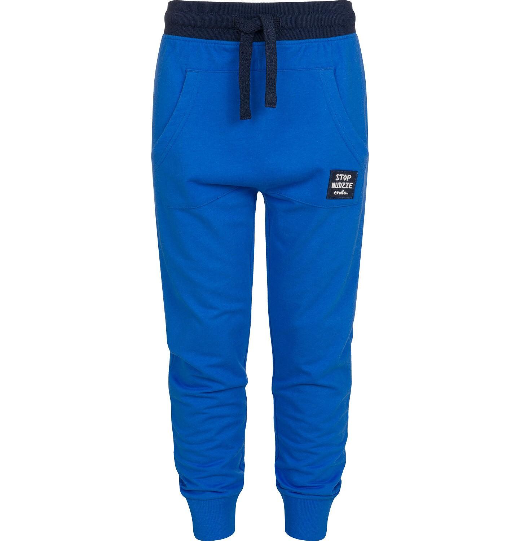 Endo - Spodnie dresowe dla chłopca, niebieskie, 9-13 lat C04K009_1