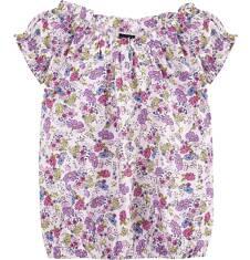 Luźna marszona bluzka dla dziewczynki 4-8 lat D71G163_1