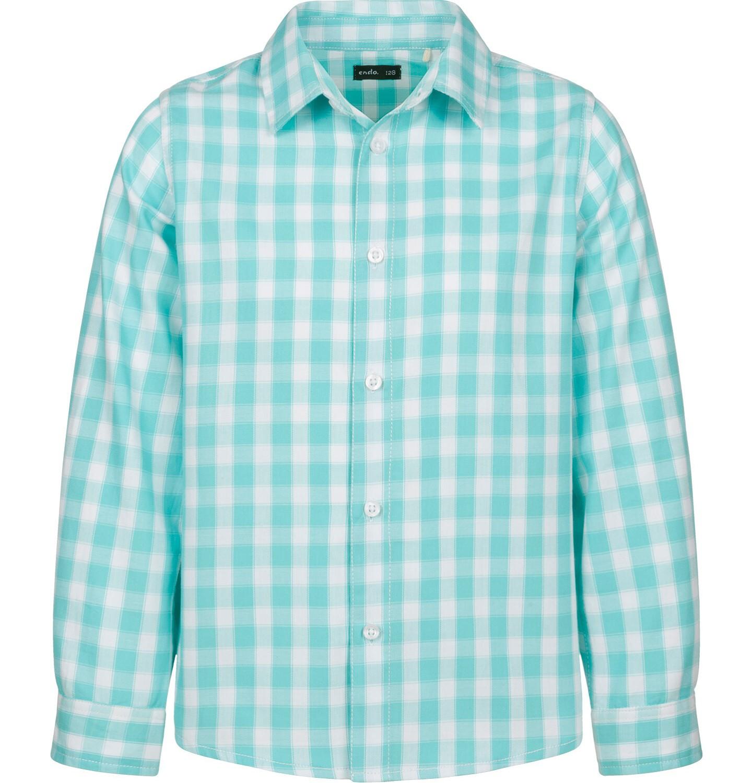 Endo - Koszula dla chłopca, w biało - niebieską kratę, 9-13 lat C03F514_1