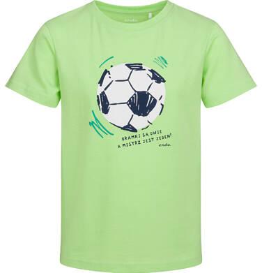 Endo - T-shirt z krótkim rękawem dla chłopca, z piłką nożną, zielony, 2-8 lat C05G103_2 2