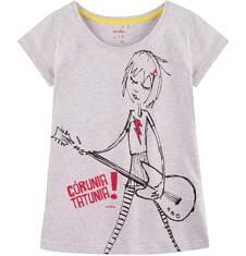 Bluzka z krótkim rękawem dla dziewczynki 9-13 lat D71G542_1