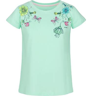 Bluzka z krótkim rękawem dla dziewczynki 9-13 lat D91G577_1