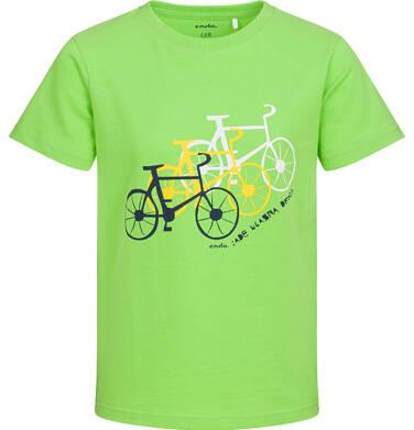 Endo - T-shirt z krótkim rękawem dla chłopca, z rowerami, zielony, 2-8 lat C05G178_2 10
