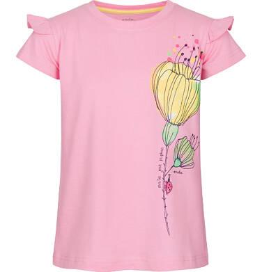 Endo - Bluzka z krótkim rękawem dla dziewczynki 3-8 lat D91G078_1
