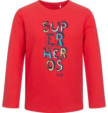 Endo - T-shirt z długim rękawem dla chłopca, z napisem, czerwony, 2-8 lat C05G013_1 25