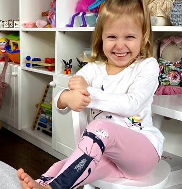 Endo - Legginsy dla dziewczynki, z kotem na nogawce, różowe, 2-8 lat D04K003_1 33