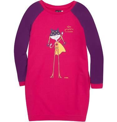 Endo - Sukienka o charakterze bluzy dla dziewczynki 3-8 lat D72H020_1