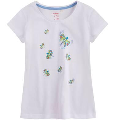 Endo - Bluzka z krótkim rękawem dla dziewczynki 4-8 lat D71G110_1