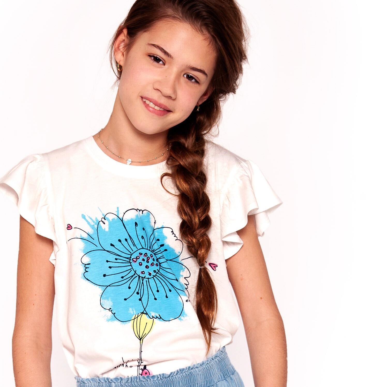 Endo - Bluzka z krótkim rękawem dla dziewczynki 3-8 lat D91G081_1