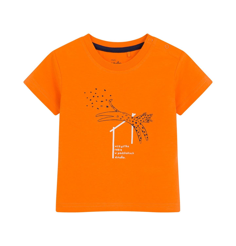 Endo - T-shirt dla dziecka do 2 lat, w cętki, pomarańczowy N03G002_1