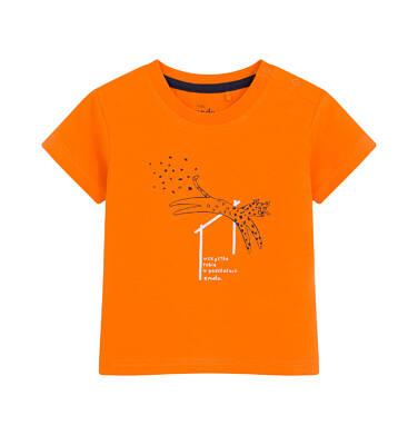 Endo - T-shirt dla dziecka do 2 lat, w cętki, pomarańczowy N03G002_1 32