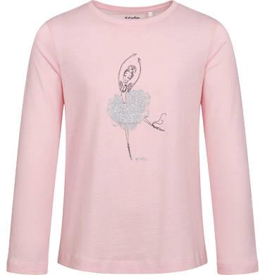 Endo - T-shirt z długim rękawem dla dziewczynki, z baletnicą, różowy, 9-13 lat D05G023_1,1