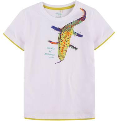 Endo - T-shirt z kontrastowym wykończeniem dla chłopca 9-13 lat C71G669_1