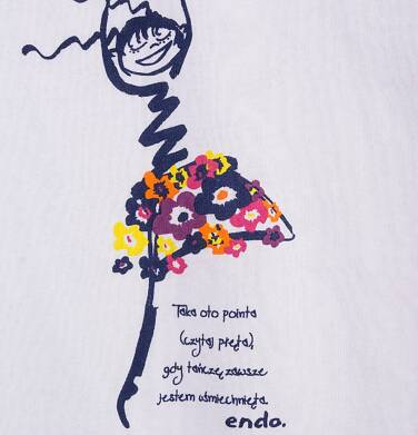 Endo - Bluzka z krótkim rękawem dla dziewczynki 4-8 lat D71G098_1
