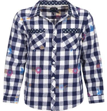 Koszula flanelowa z długim rekawem dla dziewczynki 3-8 lat D82F014_1