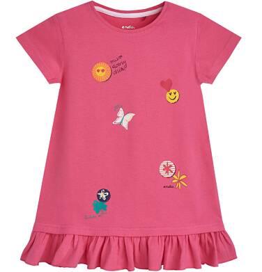 Tunika z krótkim rękawem dla dziewczynki 3-8 lat D81G045_1