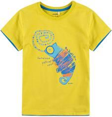 T-shirt z kontrastowym wykończeniem dla chłopca 9-13 lat C71G664_1