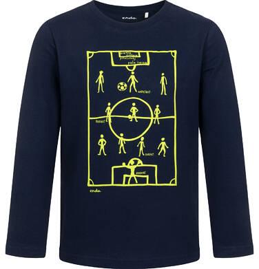 T-shirt z długim rękawem dla chłopca, z boiskiem, granatowy, 2-8 lat C05G189_1