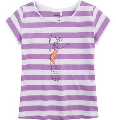 Endo - Bluzka z krótkim rękawem dla dziewczynki 4-8 lat D71G089_1